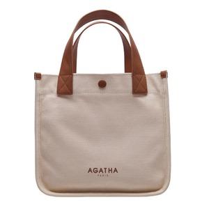 AGATHA(アガタ)AGT204-525 ベーシックスクエアトートバッグ/アイボリー - 拡大画像