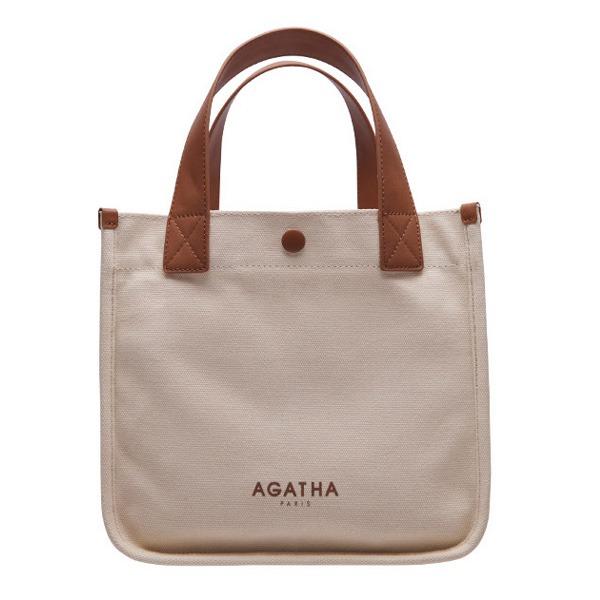 AGATHA(アガタ)AGT204-525 ベーシックスクエアトートバッグ/アイボリー