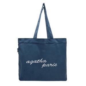 AGATHA(アガタ)AGT204-527 コーデュロイシンプルショッパートートバッグ/ブルー - 拡大画像