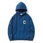 カバーナット(COVERNAT) CO2000HD01 Cロゴフードトレーナー(パーカー)/ブルー S