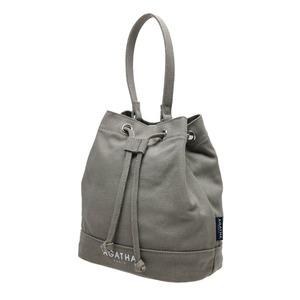 AGATHA(アガタ)AGT202-521 キャンバス生地の巾着型2Wayハンドバッグ/グレイ - 拡大画像