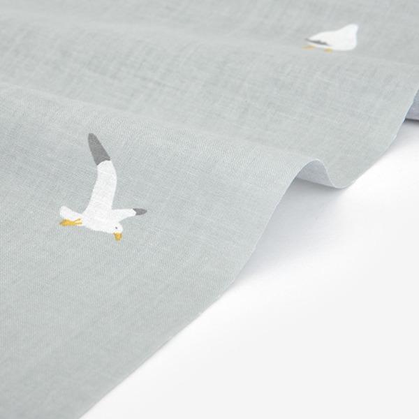 Dailylike(デイリーライク)370/ガル(カモメ)30C コットン100%生地(90×160cm)