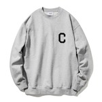 カバーナット(COVERNAT)CO2000CR01 Cロゴクルーネックトレーナー/グレイ L