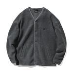 カバーナット(COVERNAT)CO2003JKF2 ノーカラーフリースジャケット/グレイ S