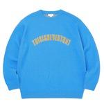 thisisneverthat(ディスイズネバーザット)TN21SKW003ARC ロゴジャガードセーター/ブルー L