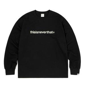 thisisneverthat(ディスイズネバーザット)TNCOCLS003T ロゴL/LS長袖Tシャツ/ブラック L - 拡大画像