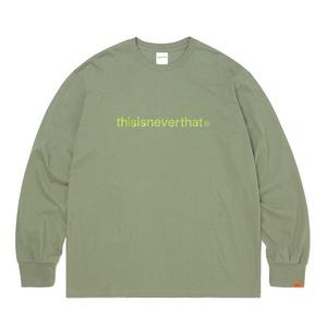 thisisneverthat(ディスイズネバーザット)TNCOCLS003T ロゴL/LS長袖Tシャツ/ライトオリーブ S - 拡大画像