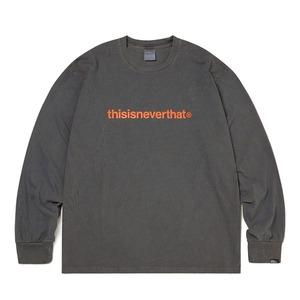thisisneverthat(ディスイズネバーザット)TNCOCLS003T ロゴL/LS長袖Tシャツ/チャコール S - 拡大画像
