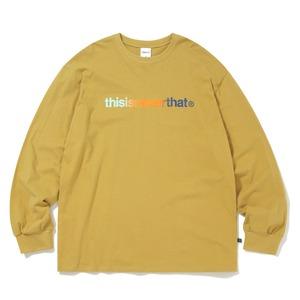 thisisneverthat(ディスイズネバーザット)TNCOCLS003T ロゴL/LS長袖Tシャツ/マスタード M - 拡大画像