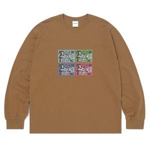 thisisneverthat(ディスイズネバーザット)TN21SLS005 4カットL/SL長袖Tシャツ/ブラウン S - 拡大画像