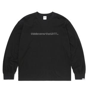 thisisneverthat(ディスイズネバーザット)TN21SLS001 SP-INTL・L/LS長袖Tシャツ ブラック M - 拡大画像