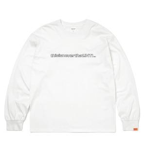 thisisneverthat(ディスイズネバーザット)TN21SLS001 SP-INTL・L/LS長袖Tシャツ ホワイト S - 拡大画像