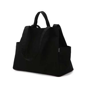 Dailylike(デイリーライク)大容量・軽量・ポケットたっぷりマーケットバッグ/01ブラック - 拡大画像