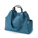 Dailylike(デイリーライク)大容量・軽量・ポケットたっぷりマーケットバッグ/07オーシャンブルー