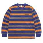 thisisneverthat(ディスイズネバーザット)TN21SLS011 オニキスストライプL/SL長袖Tシャツ オレンジ×ブルー L