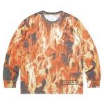 thisisneverthat(ディスイズネバーザット)TN21SLS015 ブレイズL/SL長袖Tシャツ レッド S