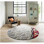 おすすめ!おしゃれなラグマットラグマット/絨毯 【ANNA RUG 150cm×150cm グレー】 正方形 『NEXTHOME』 〔リビング ダイニング〕