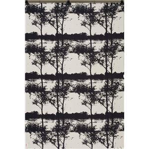 スミノエ NEXTHOME W1001 Fleuve フルーヴ 遮光1級 形状記憶加工 ウォッシャブル ブラック 100×178cm 1枚入 既製カーテン 【日本製】 - 拡大画像