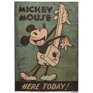 DISNEY ラグマット/絨毯 【MICKEY/Music RUG 100cm×140cm グリーン】 日本製 スミノエ 〔リビング ダイニング〕 - 拡大画像