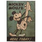 DISNEY ラグマット/絨毯 【MICKEY/Music RUG 100cm×140cm グリーン】 日本製 スミノエ 〔リビング ダイニング〕