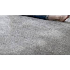 フランネルミックス ラグマット/絨毯 【130cm×190cm グレー】 長方形 ホットカーペット 床暖房可 低反発&高反発 防音 - 拡大画像