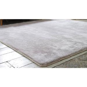 フランネルミックス ラグマット/絨毯 【190cm×190cm ライトブラウン】 正方形 ホットカーペット 床暖房可 低反発&高反発 防音 - 拡大画像