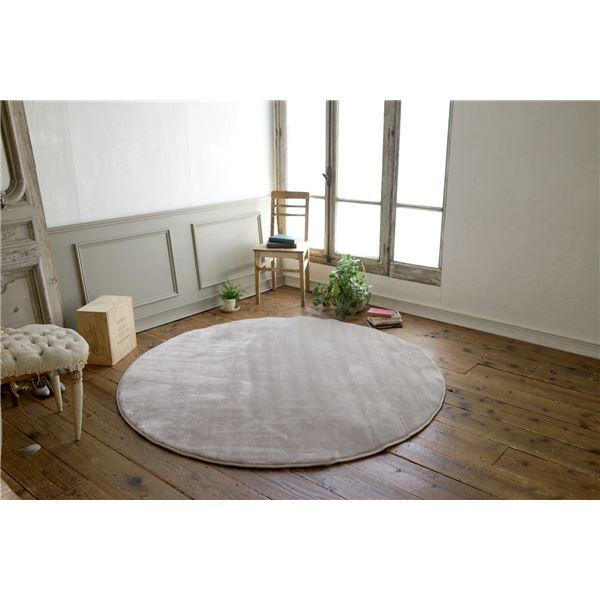 使いやすい円形の「フランネル ラグマット/絨毯 【直径140cm シルバーグレー】 円形 低反発 高反発 防滑 防音 ホットカーペット対応」