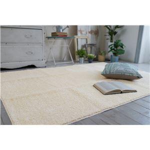 防ダニ ラグマット/絨毯 【130×185cm 長方形 ホワイト】 日本製 洗える 防滑 『スミノエ レーヴ』 〔リビング ダイニング〕