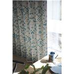 サーナヤオッリ 遮光カーテン  J1008 ザワイルドノースランド【100×135cm グリーン】