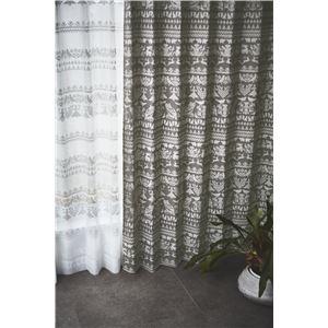 サーナヤオッリ 遮光カーテン  J1015 ナイトインザF【100×200cm ブラウン】 - 拡大画像