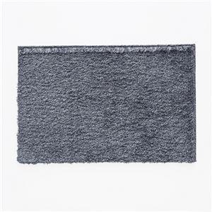 スミノエ 防炎・アレルブロックマット ネオグラス 約50×80cm ネイビー - 拡大画像
