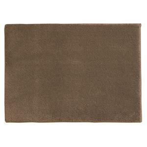 スミノエ 消臭・防炎マット スミトロンサキソニー 約50×80cm ブラウン - 拡大画像