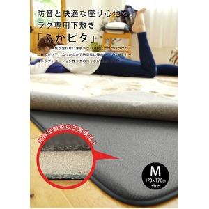 防音 ふかふか下敷き専用 ラグマット 【約170cm×170cm 2帖用】 正方形 洗える 折りたたみ 防滑 床暖房可 『ふかぴた』 - 拡大画像