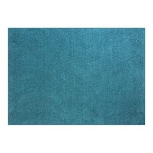 防音 ラグマット/絨毯 【フレイク 185cm×185cm 2帖 ブルー】 正方形 床暖房可 防滑 オールシーズン 〔リビング〕 - 拡大画像
