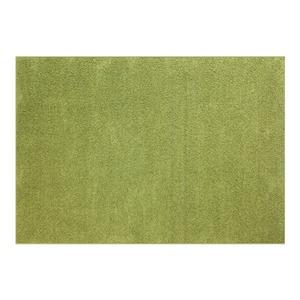 防音 ラグマット/絨毯 【フレイク 185cm×185cm 2帖 グリーン】 正方形 床暖房可 防滑 オールシーズン 〔リビング〕 - 拡大画像