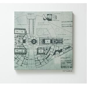 スターウォーズ ファブリックパネル 【ミレニアムファルコン 41cm×41cm】 正方形 日本製 スミノエ 〔壁面 壁紙〕 - 拡大画像