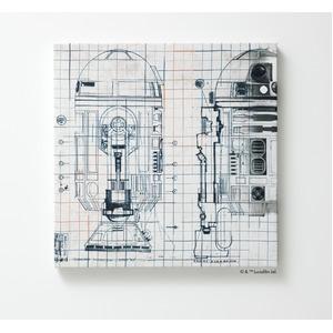 スターウォーズ ファブリックパネル 【R2-D2 41cm×41cm】 正方形 日本製 スミノエ 〔壁面 壁紙〕 - 拡大画像