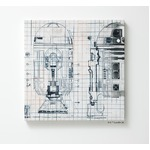 スターウォーズ ファブリックパネル 【R2-D2 41cm×41cm】 正方形 日本製 スミノエ 〔壁面 壁紙〕