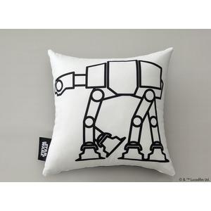 スターウォーズ 背当てクッション/枕 【AT-AT 45cm×45cm】 正方形 日本製 綿100% スミノエ 〔リビング ベッドルーム 寝室〕 - 拡大画像