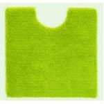 トイレマット/お手洗いマット 【60cm×60cm グリーン】 正方形 洗える 吸水 速乾 VIF 『デザインライフ』 〔レストルーム〕