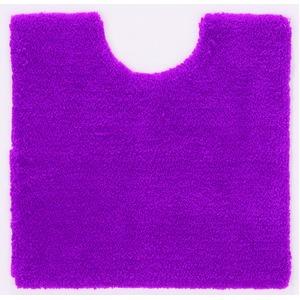 トイレマット/お手洗いマット 【60cm×60cm ピンク】 正方形 洗える 吸水 速乾 VIF 『デザインライフ』 〔レストルーム〕 - 拡大画像