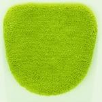 トイレフタカバー/お手洗いフタカバー 【48cm×49cm グリーン】 洗える 吸水 速乾 洗浄用 VIF 『デザインライフ』