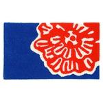デザインライフ 玄関マット 室内/屋内用 DAIRIN(ダイリン) 45×75cm ブルー 【日本製】