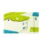 デザインライフ 玄関マット 室内/屋内用 YANEIRO(ヤネイロ) 45×75cm ブルー 【日本製】