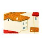デザインライフ 玄関マット 室内/屋内用 YANEIRO(ヤネイロ) 45×75cm オレンジ 【日本製】