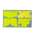 デザインライフ 玄関マット 室内/屋内用 KAIGARA(カイガラ) 45×75cm グレー 【日本製】