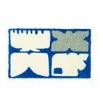 デザインライフ 玄関マット 室内/屋内用 KAIGARA(カイガラ) 45×75cm ネイビー 【日本製】