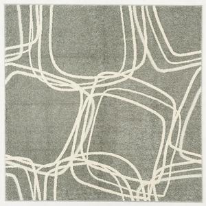 ナイロンラグ/絨毯 【140cm×200cm グレー】 長方形 日本製 防滑 オールシーズン対応 ホット&クール 『レシェ』 - 拡大画像