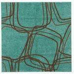 ナイロンラグ/絨毯 【200cm×200cm グリーンブルー】 正方形 日本製 防滑 オールシーズン対応 ホット&クール 『レシェ』