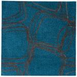 ナイロンラグ/絨毯 【200cm×200cm ネイビー】 正方形 日本製 防滑 オールシーズン対応 ホット&クール 『レシェ』